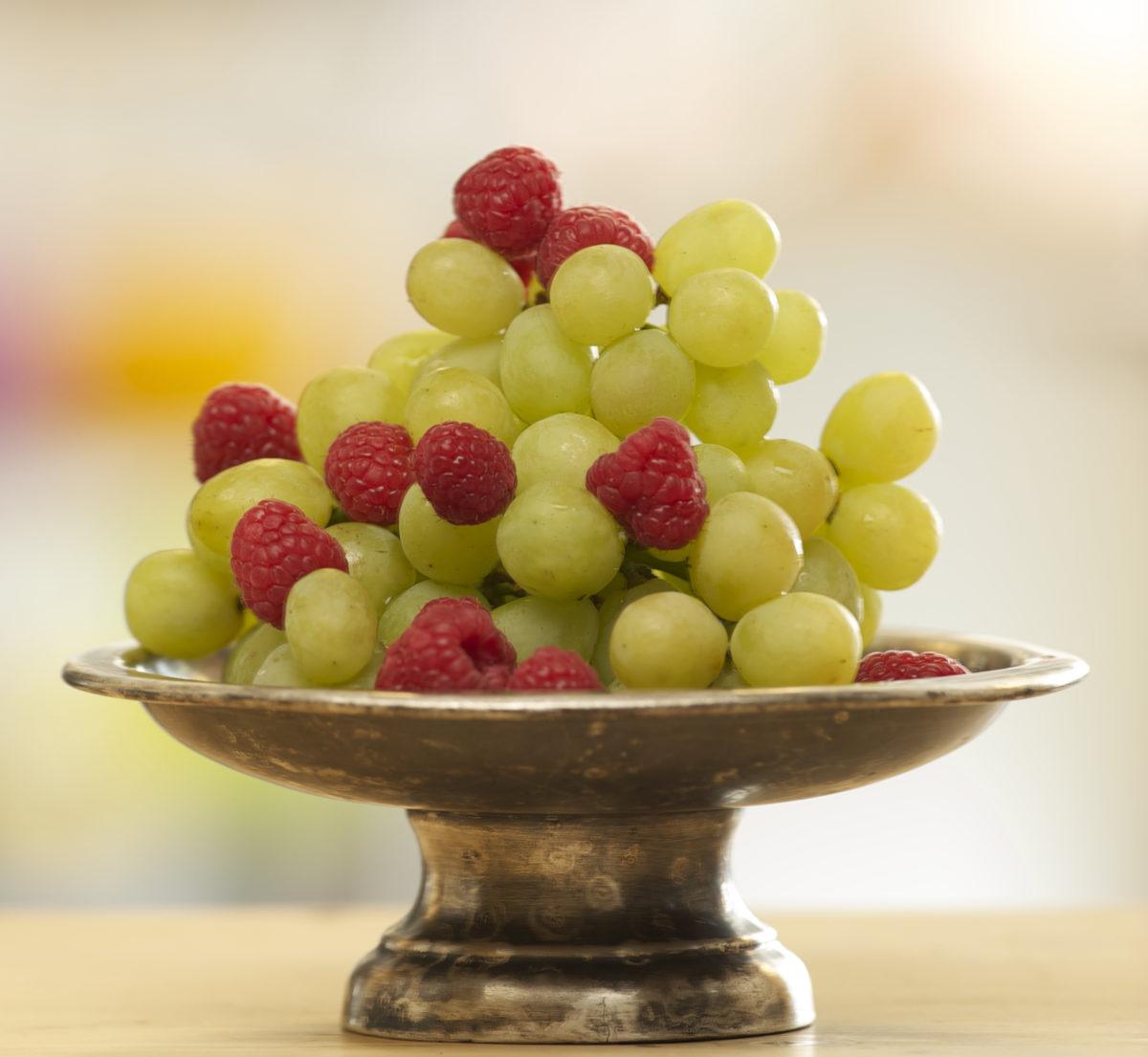 Raspberries & Grapes annasfoodstories