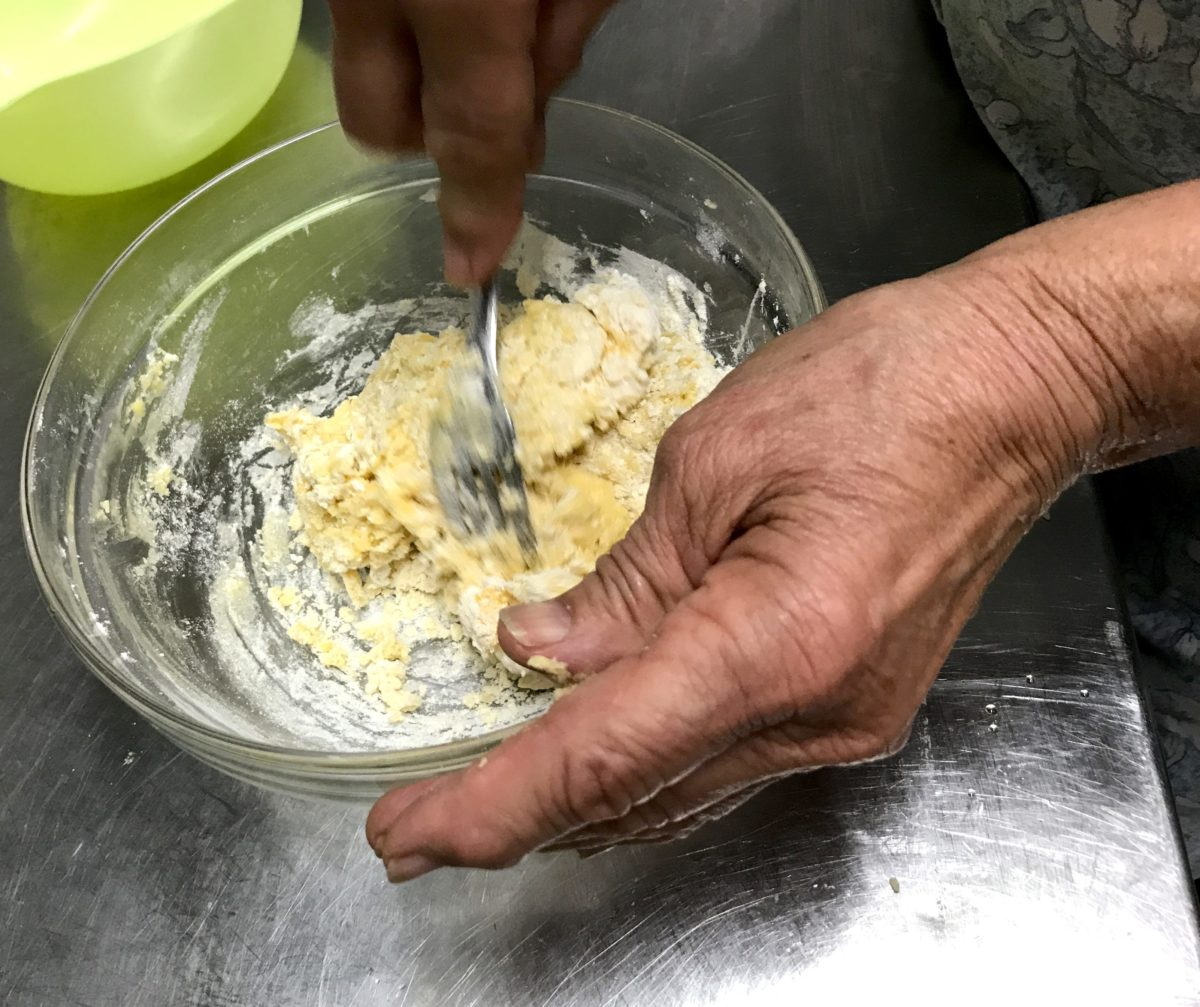 Lucia making ravioli annasfoodstories