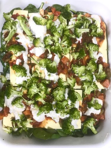 wonderful veggie lasagne layers with broccoli veggie lasagne annasfoodstories