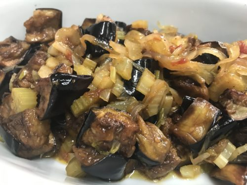 eggplant caponata annasfoodstories