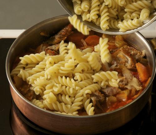 pasta with tomato sauce and smoked mackerel annasfoodstories