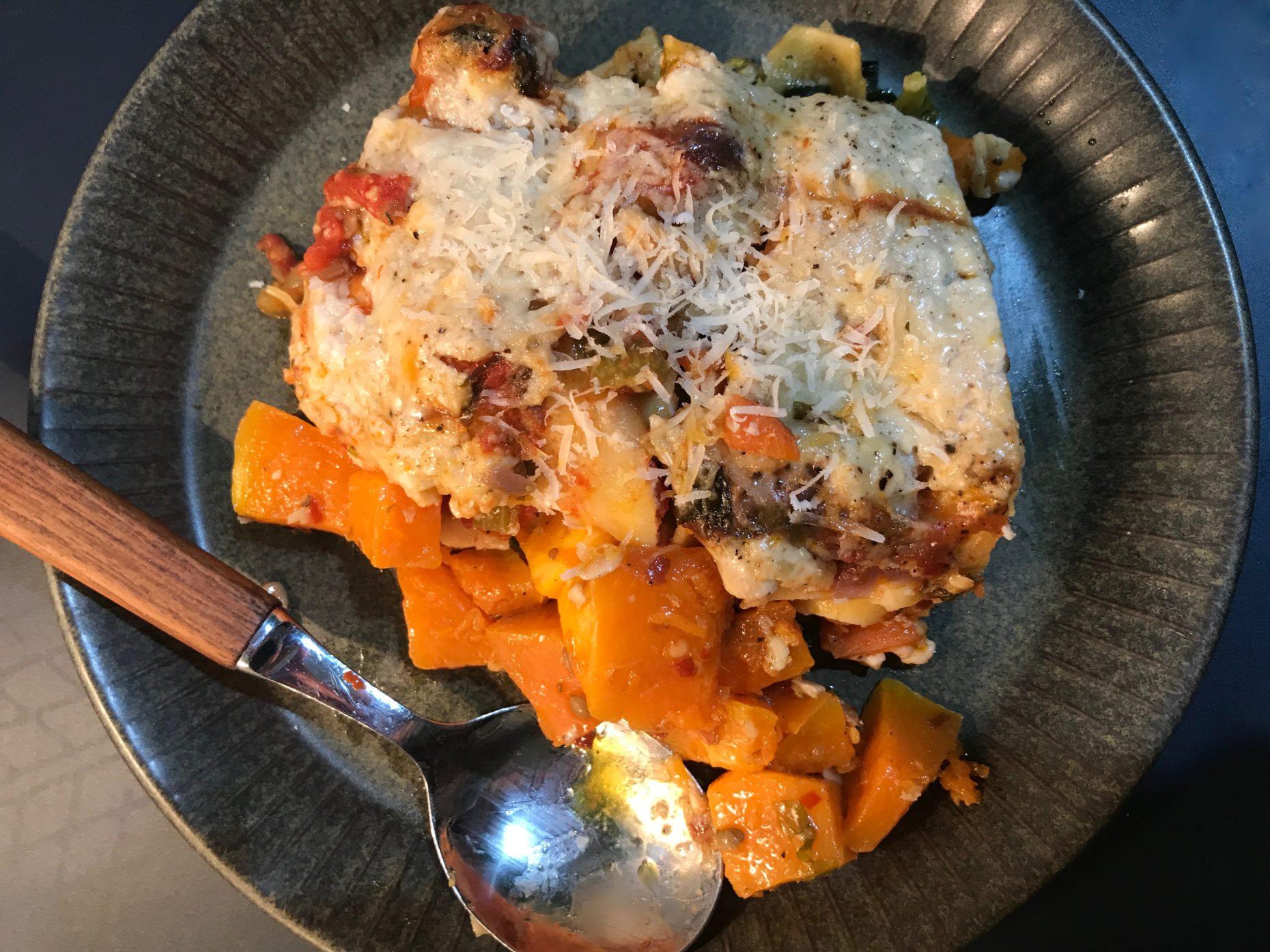 veggie lasagne on a plate annasfoodstories